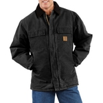 Carhartt Men's Sandstone Traditional Coat/Arctic Quilt-Lined C26